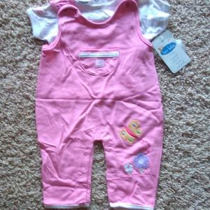 Baby girl set outfit 0-3 months by bon bebe
